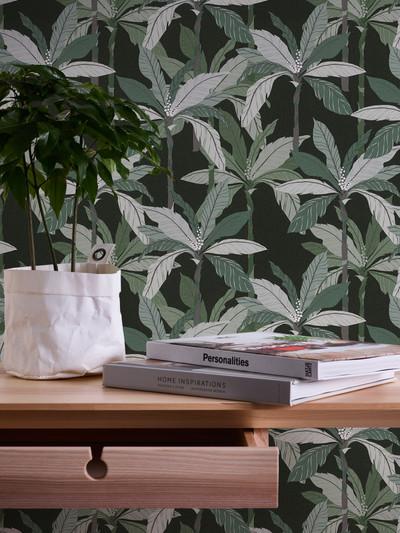 Nordic Palms - Black / Green