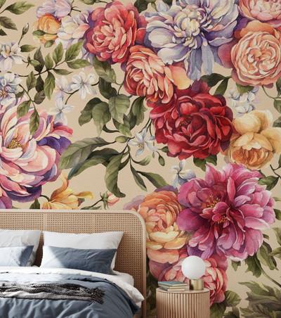 Mural - Floralia Sand (Per Sqm)