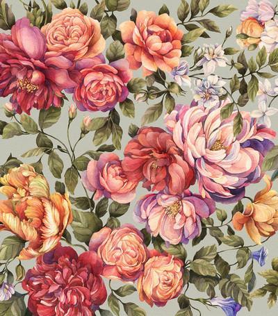 Mural - Floralia Mint (Per Sqm)