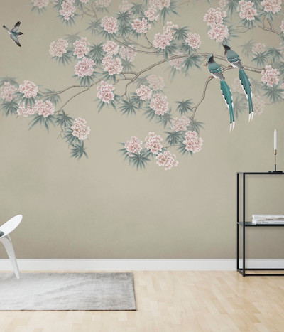 MURAL - BIRD BRANCH HAZEL (PER SQM)