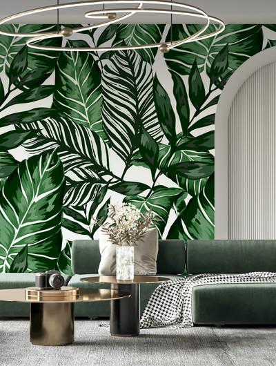 Mural - Zinia Palm(Per Sqm)