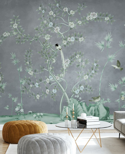 MURAL - PROMISED BIRD LAND GREY (PER SQM)