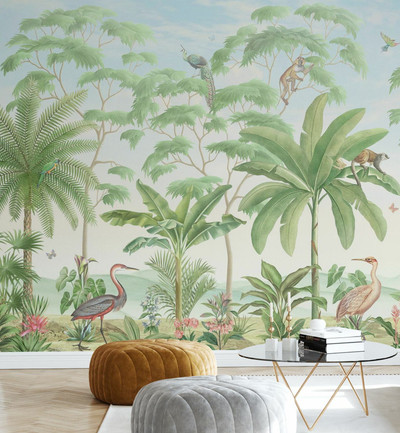 MURAL - MONKEY TROPICAL EDEN (PER SQM)