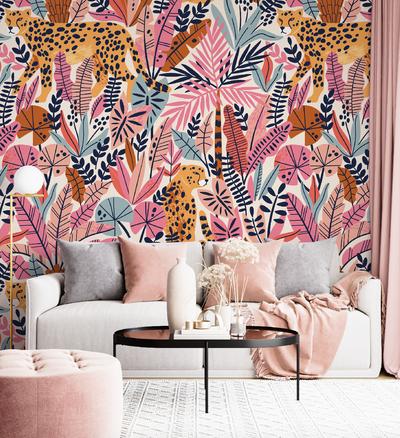 Mural - Cheetah Pink(Per Sqm)