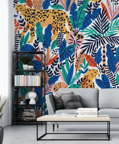 Mural - Cheetah Blue Multi (Per Sqm)