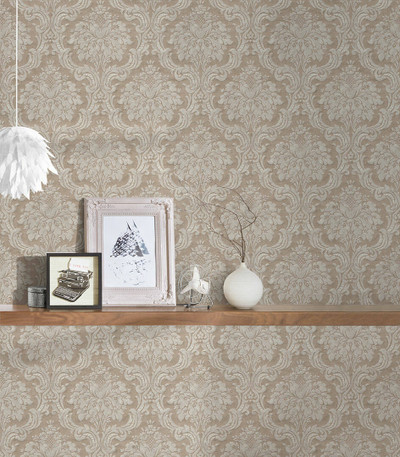 Baroque Damask - Light Brown