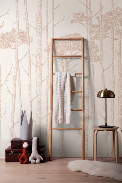 MURAL - TREE TOPS BLUSH PINK (PER SQM)