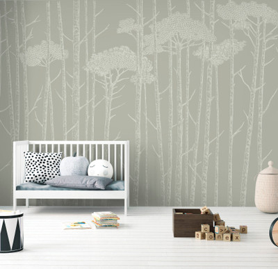 MURAL - TREE TOPS SAGE GREEN (PER SQM)