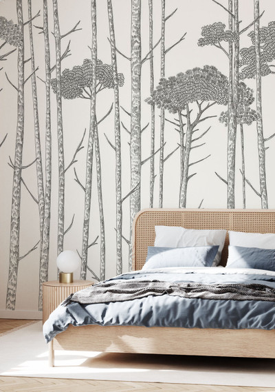 MURAL - TREE TOPS BLACK (PER SQM)