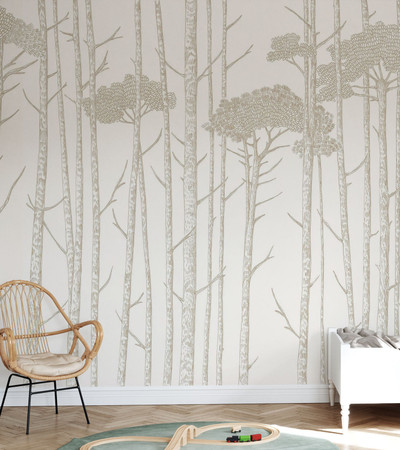 MURAL - TREE TOPS BEIGE (PER SQM)