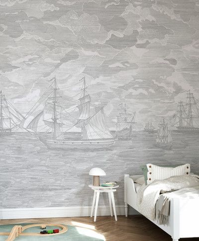 Mural - Sail Away Grey (Per Sqm)