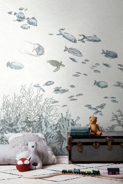 MURAL - UNDER THE SEA BLUE (PER SQM)