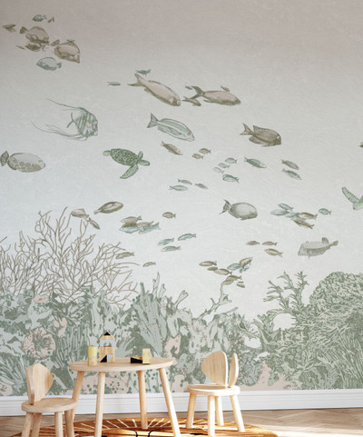 MURAL - UNDER THE SEA GREEN (PER SQM)