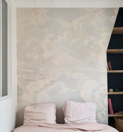 MURAL - CRADLED IN CLOUDS BLUE / GREY (PER SQM)