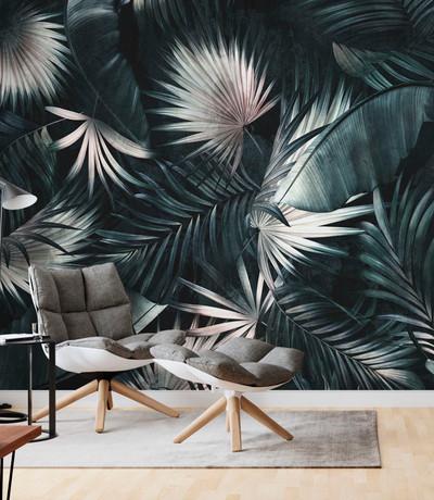 Mural - Tropical Leaves Dark (Per Sqm)