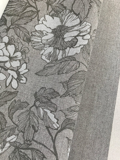 Linen Flower - Dark Grey