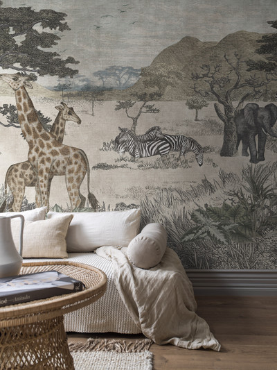 Mural - Serengeti Wild Animals (3.6m X 2.65m)