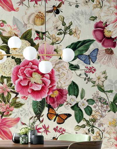 Mural - Fairy Garden Cream (Per Sqm)