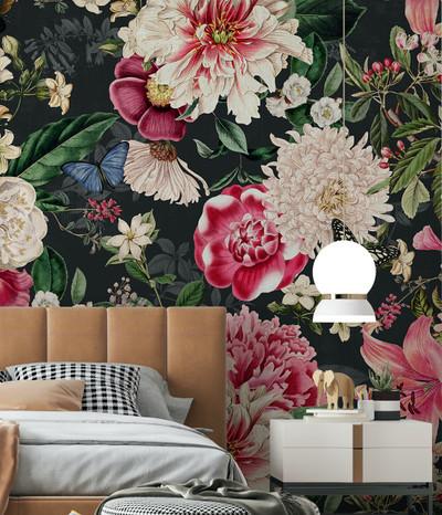 Mural - Fairy Garden Charcoal (Per Sqm)