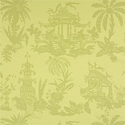 Tea House Damask - Green (12 Rolls Avail.)