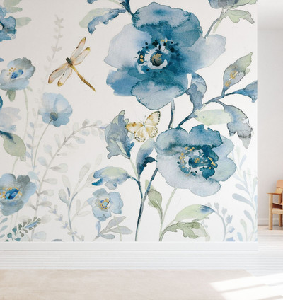 MURAL - BLUES OF SUMMER (PER SQM)