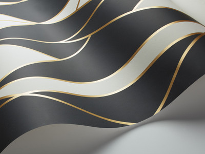 Oblique - Black / Gold (1 Roll Avail.)
