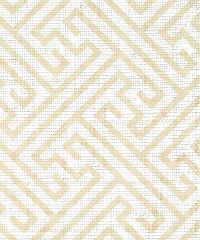 CHARLOTTE RAFFIA - WHITE ON NATURAL