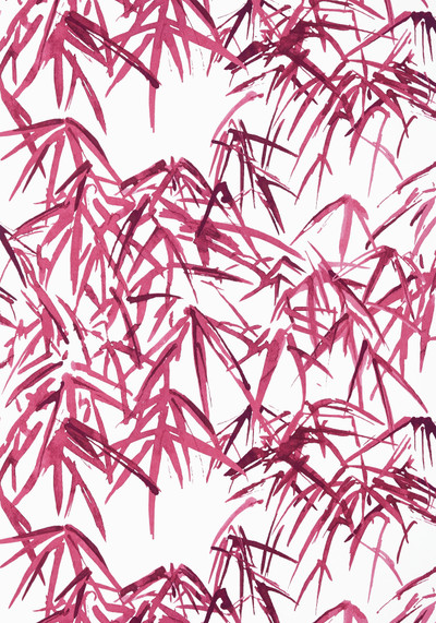 Kyoto Leaves - Fuchsia