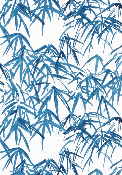 Kyoto Leaves - Navy Blue