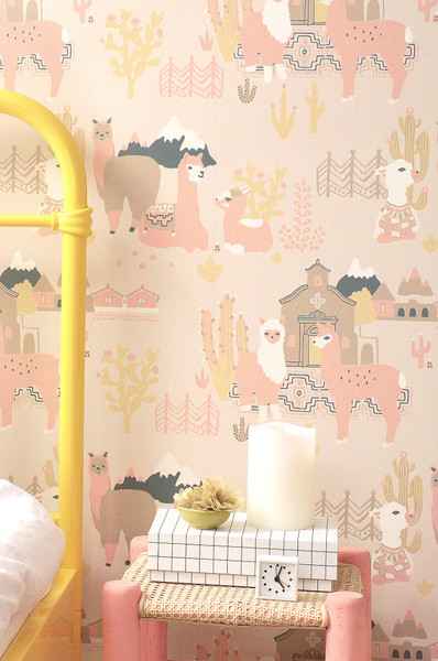 Llama Village - Sunny Pink