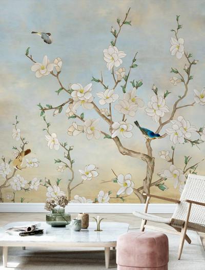Mural - Birds Flora (Per Sqm)