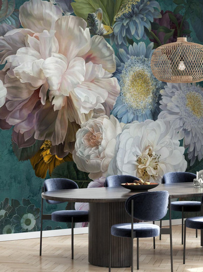 MURAL - LUSTRE ARRANGEMENT EMERALD (PER SQM)