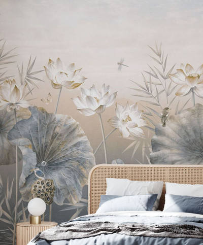 MURAL - DOUX VEGETATION SEPIA (PER SQM)