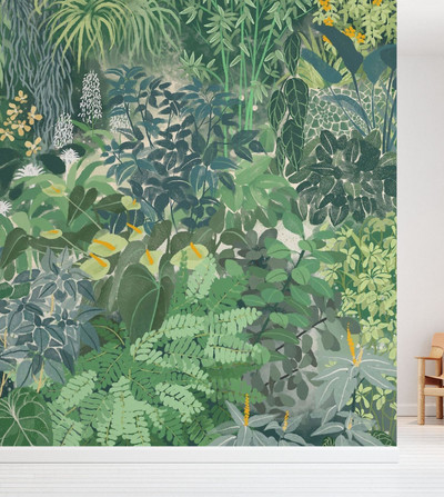 MURAL - TROPICAL PLANTS (PER SQM)