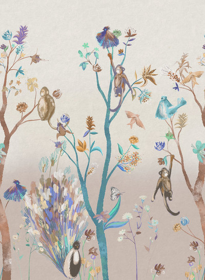 MURAL - KITSCH NATURE BROWN (PER SQM)