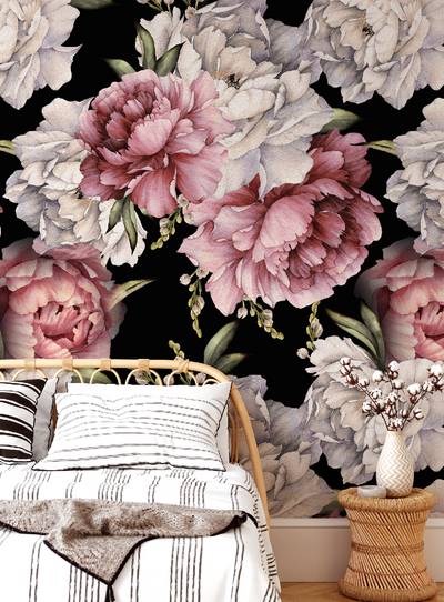 MURAL - BLOOM BLACK (PER SQM)