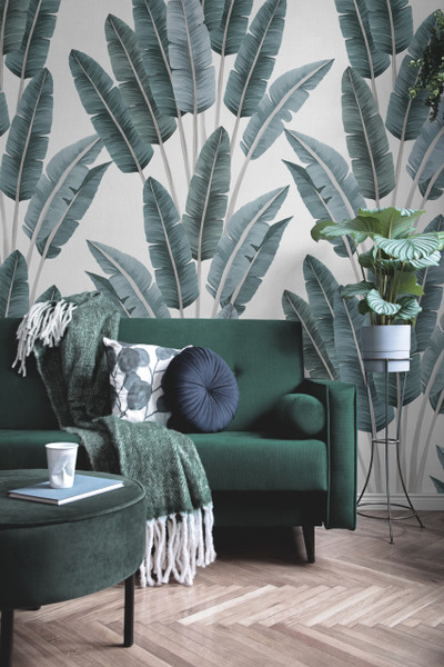 Mural - Palms Blue (Per Sqm)