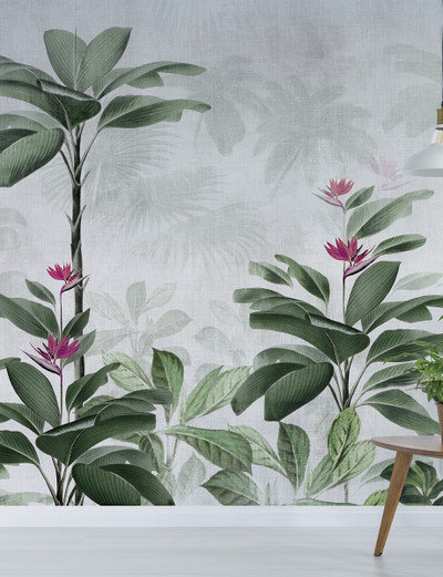 MURAL - BOTANICAL BLISS FUCHSIA (PER SQM)