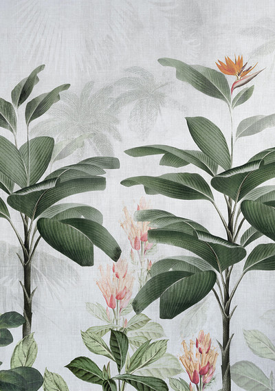 MURAL - BOTANICAL BLISS ORANGE (PER SQM)