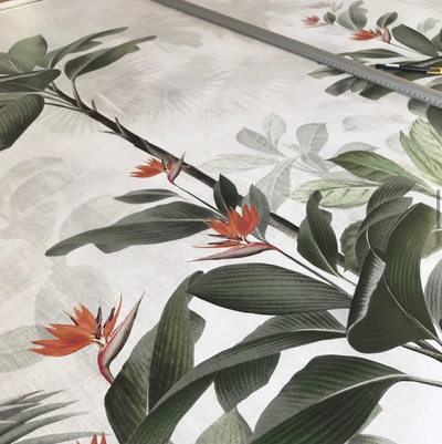 MURAL - BOTANICAL BLISS VINTAGE ORANGE (PER SQM)