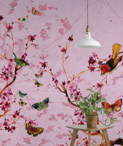 MURAL - BIRDS & BUTTERFLIES (PER SQM)