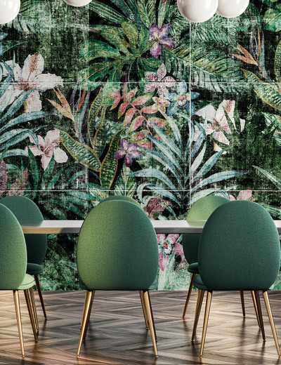 Mural - Jungle Distressed (Per Sqm)