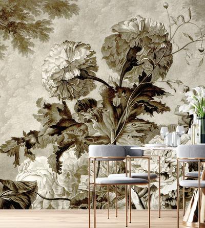 Mural - Still Life Sepia (Per Sqm)