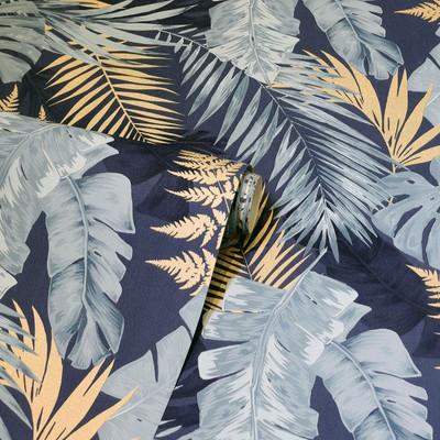 Soft Tropical - Navy Blue