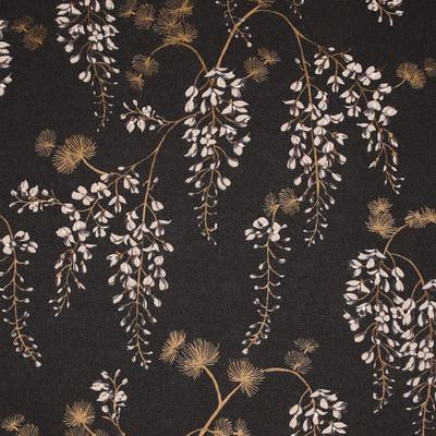 Wisteria Floral - Black / Gold