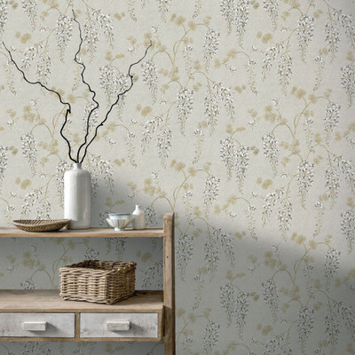 Wisteria Floral - Neutral / Gold