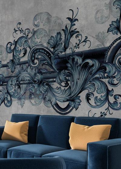 MURAL - BAROQUE BLUE (PER SQM)