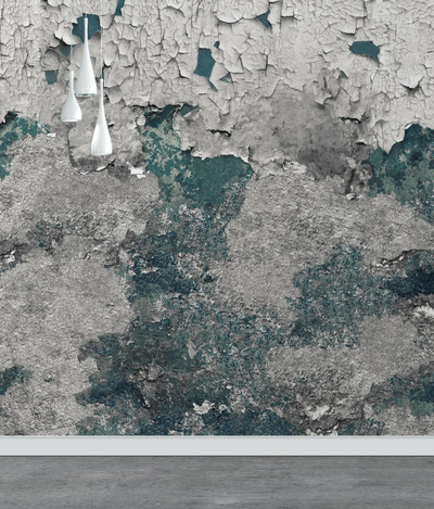 Mural - Concrete Grunge Teal (Per Sqm)