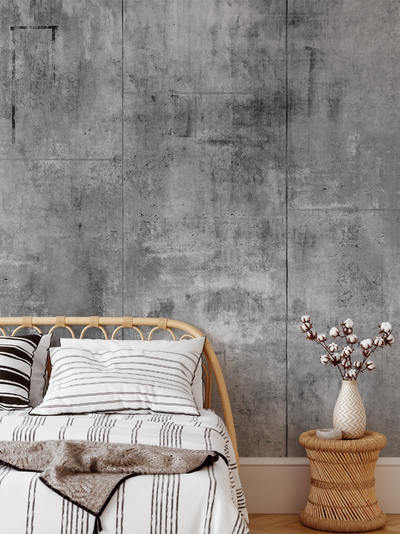 Mural - Concrete Warehouse Panels Grey (Per Sqm)