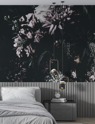 Mural - Midnight Flora Nude (Per Sqm)